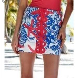 So cute Lilly Pulitzer She She Shells  Tate skirt